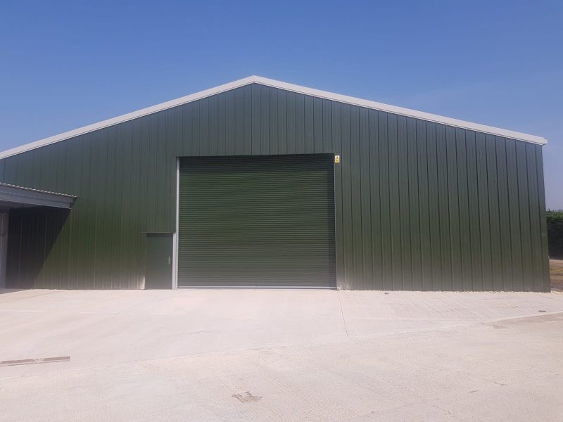 Green cladding for this agricultural building
