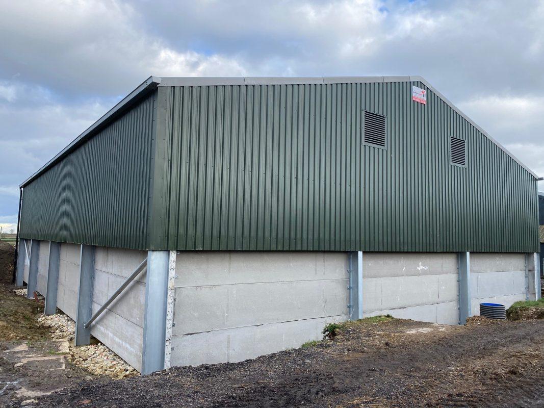 1000T Grain Store with galvanised steel