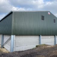 Galvanised steel and 3m high concrete panels