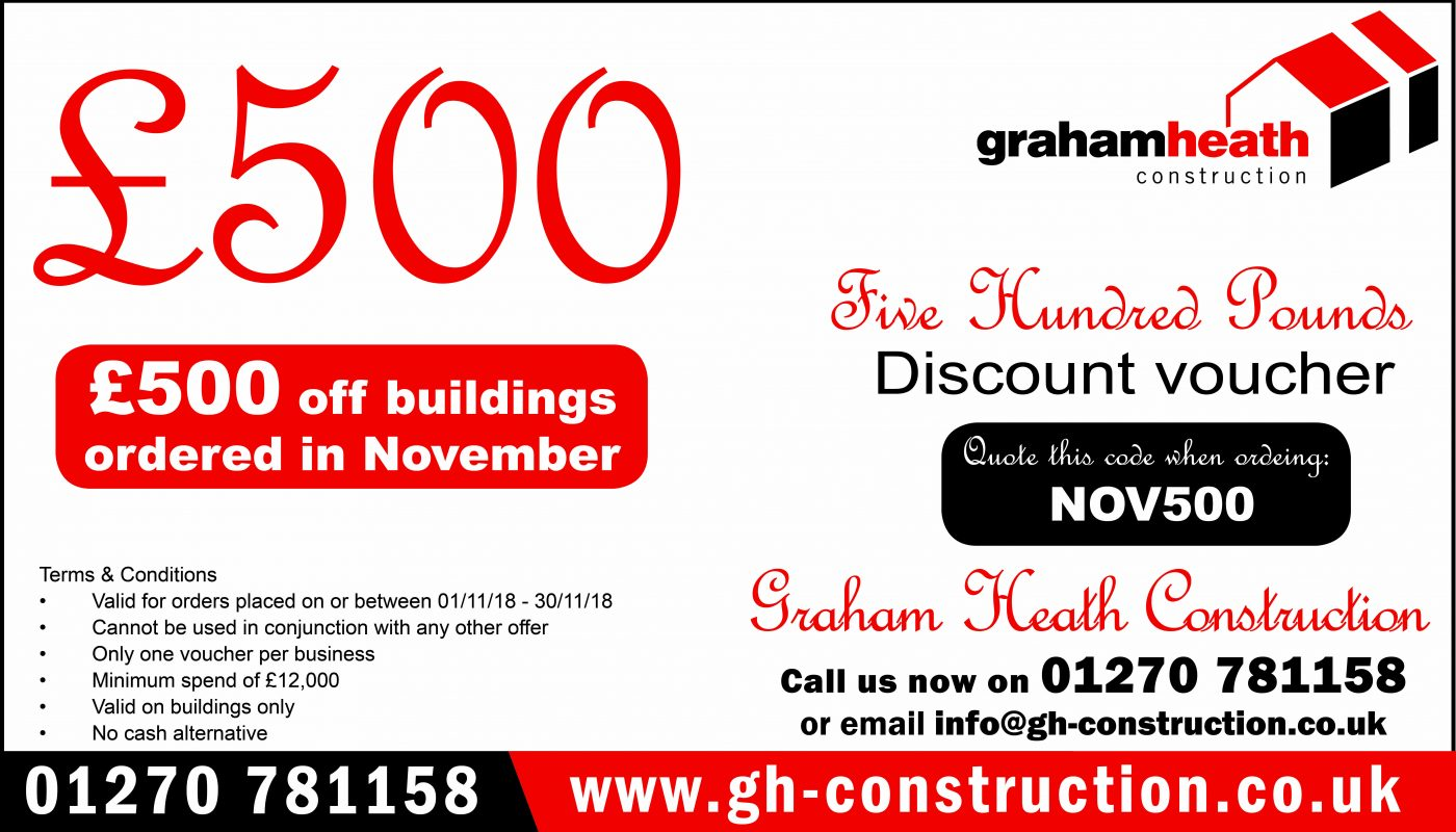 GHC £500 discount voucher Nov 18