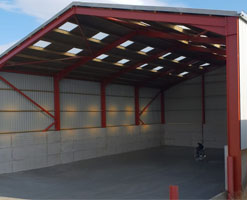 PB Red Steel Frame Building Gallery Feature Image