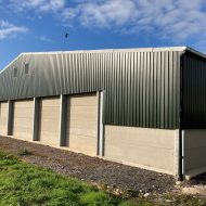 Green cladding and concrete panels