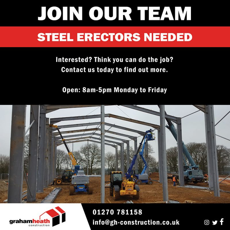 Steel Erectors Recruitment - GHC - September 2019