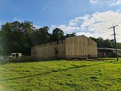 timber cladding building