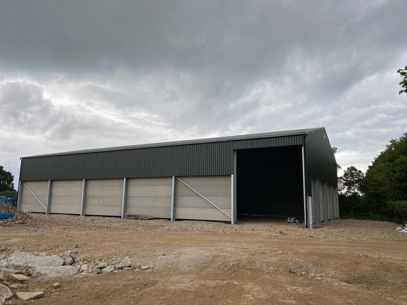 Glavanised steel frame building